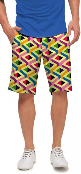 "Loudmouth Men's Golf Short ""Block Party"""