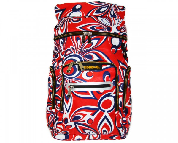 """Loudmouth Bag Pack """"Shagadelic Red"""""""