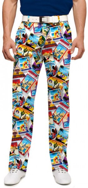 "Loudmouth Herren-Hose lang ""Postcards from the Wedge"""