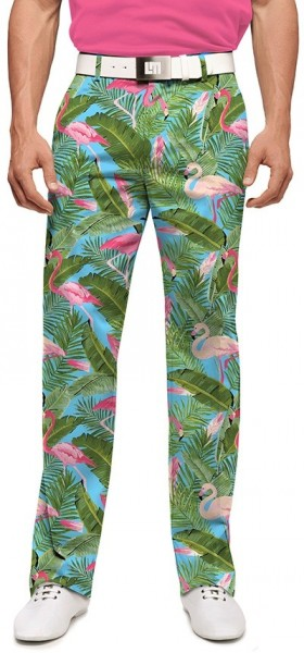 "Loudmouth Herren-Hose lang ""Flamingo Garden Stretch Tech"""