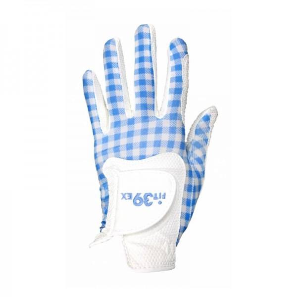 Handschuh Fit 39 Check Blau/Weiß