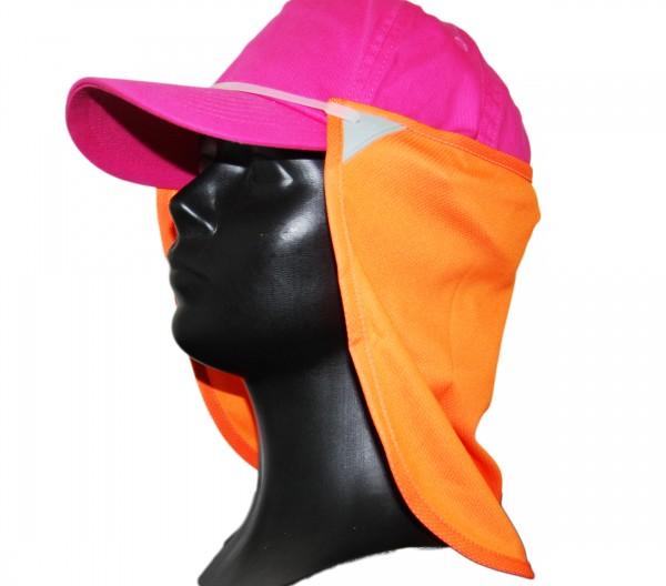 Nacken-Gesichtsmaske-Sonnenschutz - orange