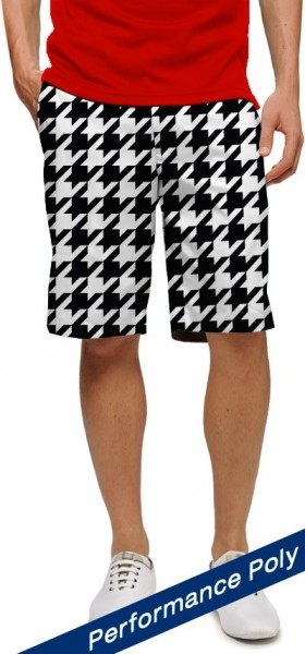 "Loudmouth Men's Golf Short ""Oakmont Houndstooth II StretchTech"""