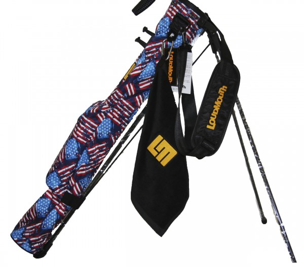 NEW Loudmouth Speed Golf Bag-Antique Flag-