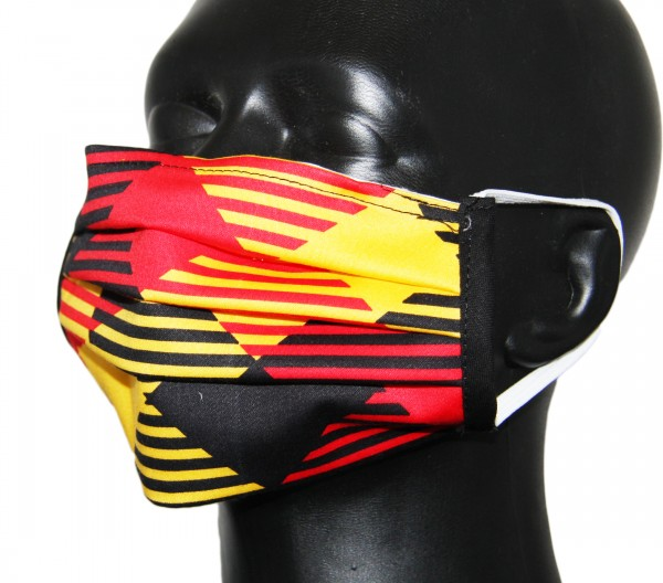 "Face Mask ""Black-Red-Gold"""