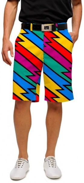 "Loudmouth Men's Golf Short ""Captain Thunderbolt StretchTech"""