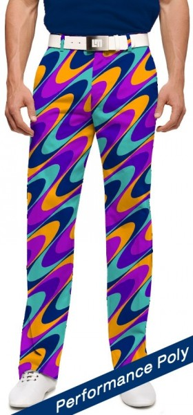 "Loudmouth Men's Golf Pants "" Razzberry Swirl StretchTech"""