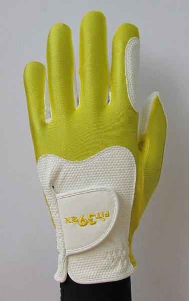 Golf Glove Fit 39 Yellow/White