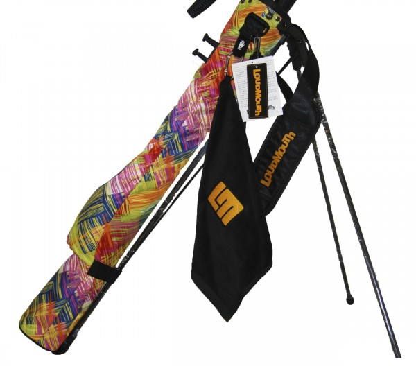 Loudmouth Self Stand Speed Golf Bag Scratch Yellow