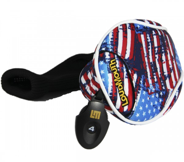 "Fairway Wood Headcover ""Antique Flag"" Design"