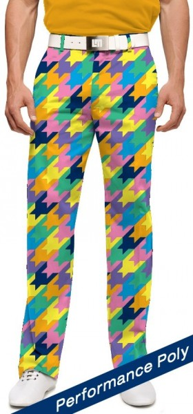 "Loudmouth Herren-Hose lang ""Peaches & Cream Stretch Tech"""