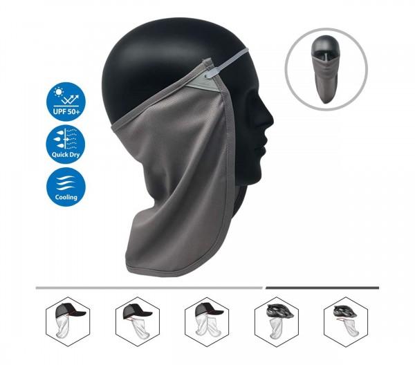 Nacken-Gesichtsmaske-Sonnenschutz - dunkelgrau #2