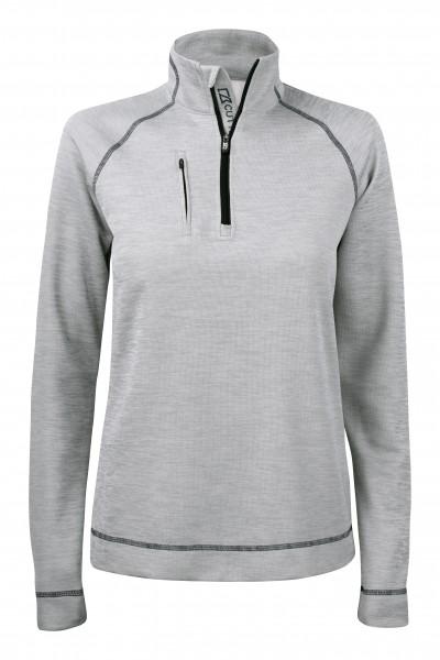 Chambers Damen Half Zip Grey-Melange