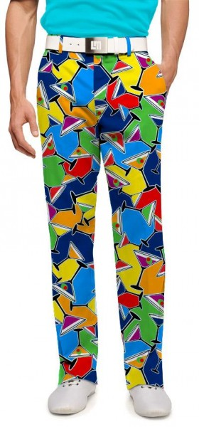 "Loudmouth Men's Golf Trousers ""Cocktail Party"""