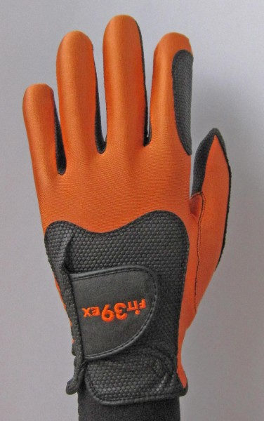 Golf Glove Fit 39 Orange/Black