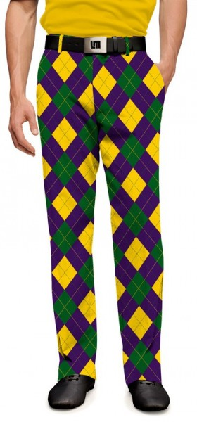 "Loudmouth Men's Golf Trousers "" Carnivale StretchTech"""