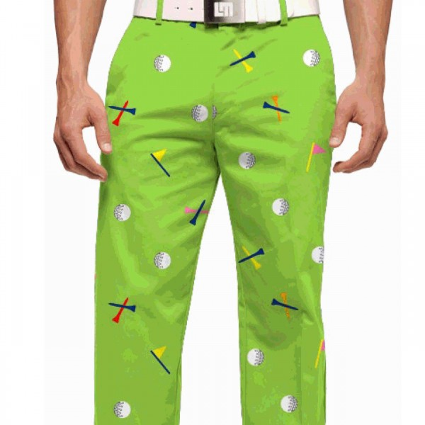 """Loudmouth Men's Golf Trousers """"Fore!"""""""