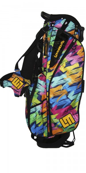 "NEW Loudmouth 8.5 inch Stand Bag ""Broad Strokes Navy"""