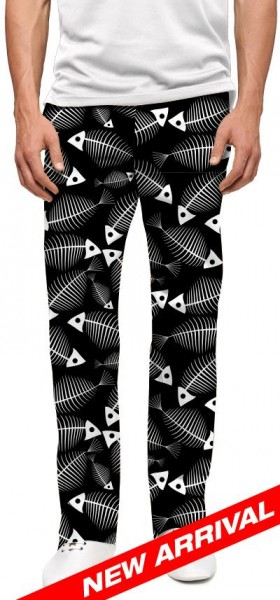 "Loudmouth Men's Golf Trousers ""Fish Bones"""