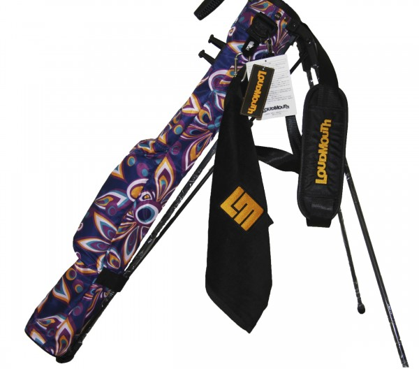 "Loudmouth Self Stand Speed Golf Bag ""Shagadelic Purple"""