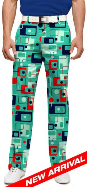 """Loudmouth Men's Golf Trousers """"8-Track"""""""