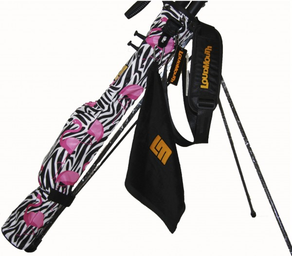 NEW Loudmouth Speed Golf Bag-Savage Flamingo-