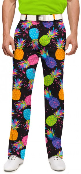 """Loudmouth Herren-Hose lang """"Electric Pineapples StretchTech"""""""