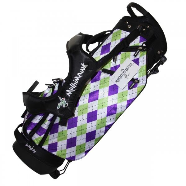 Molhimawk Stand Bag-Purple & Green Argyle