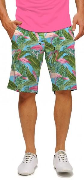 "Loudmouth Men's Golf Short ""Flamingo Garden StretchTech"""