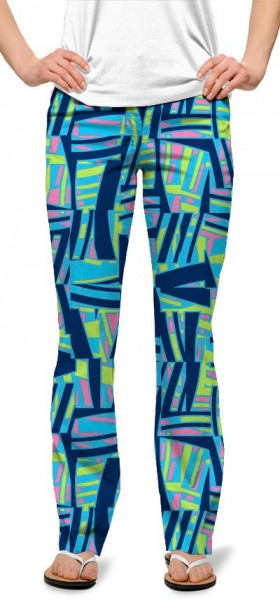 "Loudmouth Women Trouser ""Tiki Bar Blue"""