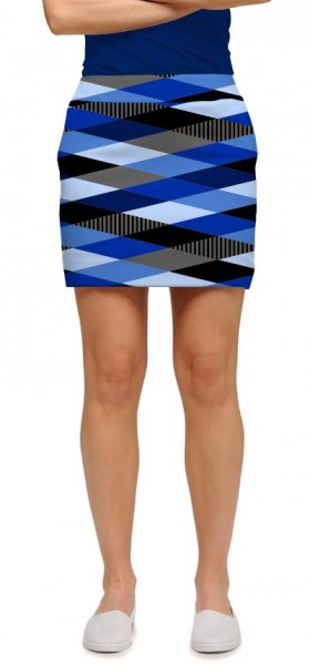 "Loudmouth Skort ""Fore Shades Of Blue"""