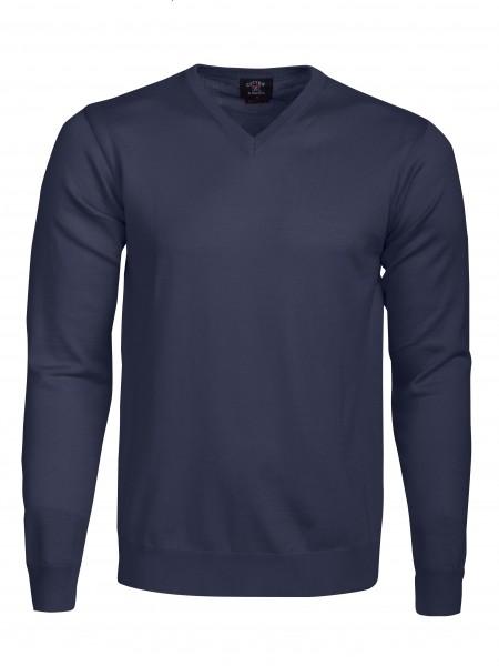 Everett Herren V-neck Pullover Navy 1390