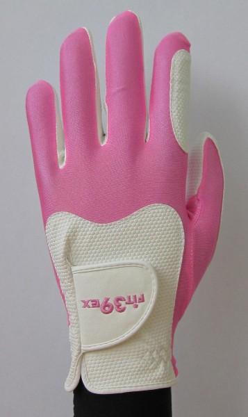 Golf Glove Fit 39 Pink/White
