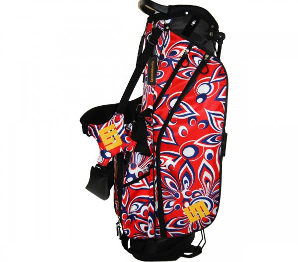 """NEW Loudmouth 8.5 inch Stand Bag """"Shagadelic Red"""""""
