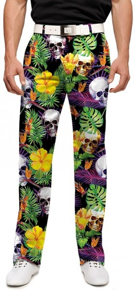 "Loudmouth Men's Golf Pants "" Skull Grotto StretchTech"""