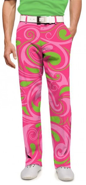 """Loudmouth Men's Golf Trousers """"Cotton Candy"""""""