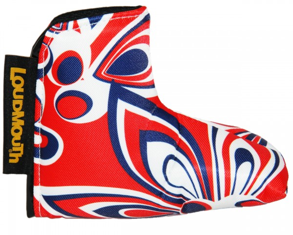 """Loudmouth Blade Putter Cover """"Shagadelic Red"""""""