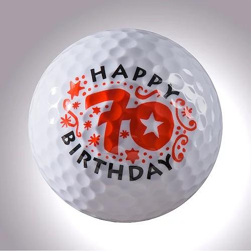 "magball-magnetic Deco-Golf Ball ""Happy Birthday 70"""