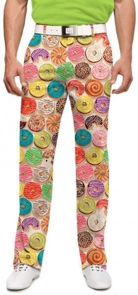 "Loudmouth Men's Golf Trousers ""Doughnuts"""