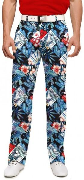 "Loudmouth Men's Golf Pants "" Midnight Lagoon StretchTech"""