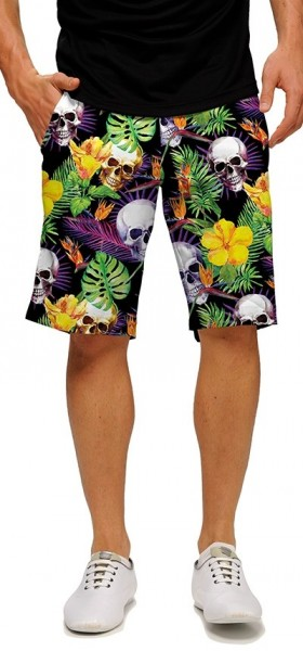 "Loudmouth Men's Golf Short ""Skull Grotto StretchTech"""