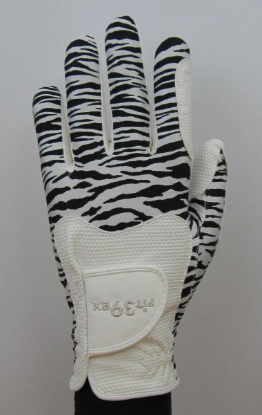 Golf Glove Fit 39 Zebra/White